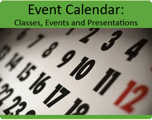 Event Calendar, classes, events and presentations